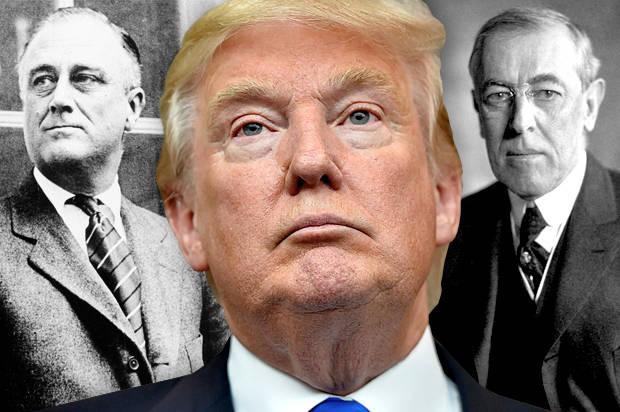 woodrow wilson verse franklin delano roosevelt Roosevelt, who suffered only a  was defeated by democrat woodrow wilson in november shrank was deemed insane and committed to.