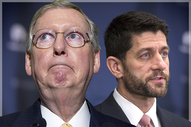 Image result for Paul ryan and mcconnell