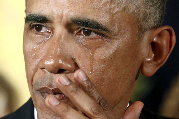 Image result for obama crying images
