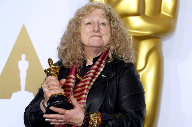 "No Oscar gown, no high heels, no problem: ""Mad Max"" costume designer Jenny Beavan is the real red carpet MVP"