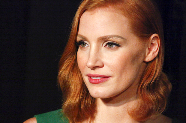 White woman walks ahead: Jessica Chastain starring in a ...