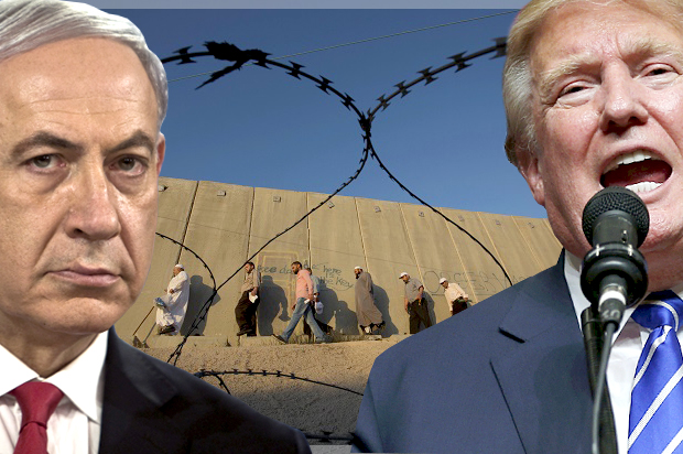 Image result for netanyahu wall