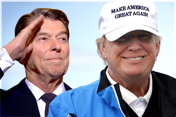 Image result for Donald Trump and Ronald Reagan