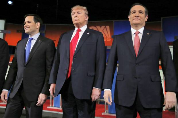 Trump leads as rivals gang up on Rubio