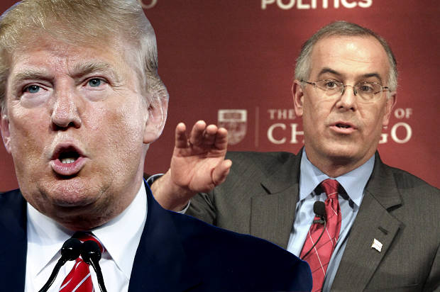 Donald Trump, David Brooks (Credit: AP/John Locher/Nam Y. Huh/Photo montage by Salon)