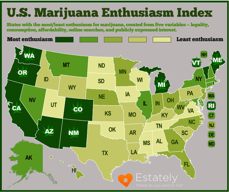 the legal status of marijuana In 1996, california voters passed proposition 215, making the golden state the first in the union to allow for the medical use of marijuana since then, 30 more states, the district of columbia, guam and puerto rico have enacted similar laws as of jan 22, 2018, the vermont legislature passed adult.