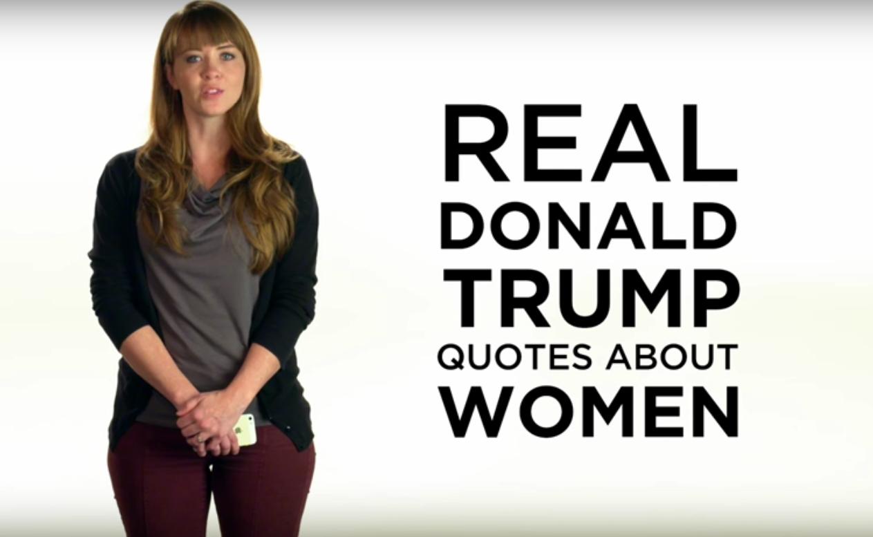 Bimbo Dog Fat Pig Women Recite Donald Trumps Sexist -9199