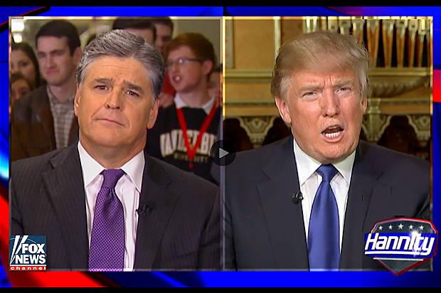 Sean Hannity, Donald Trump