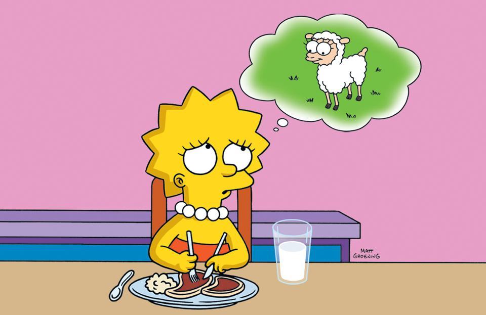 Resultado de imagen de lisa simpson vegan