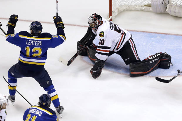 National Hockey League playoffs: Brouwer puts Blues over top, Blackhawks eliminated