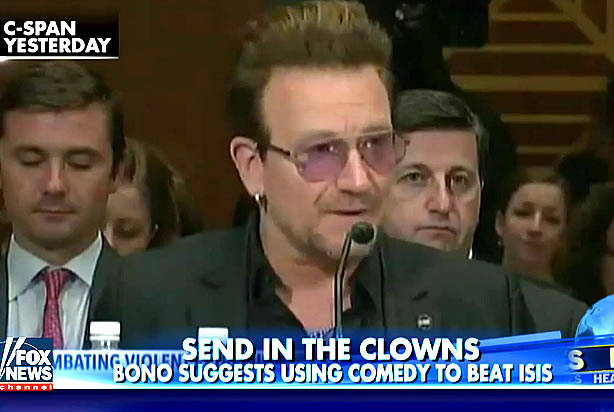 U2′s Bono testifies before Congress on the refugee crisis