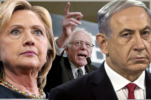 Sanders is making history on the Israel-Palestine conflict, while Clinton is as extreme as Netanyahu
