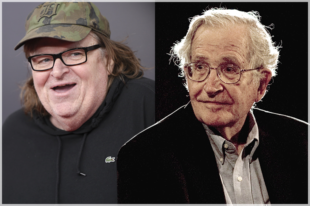 Wall Street Journal Slimes Noam Chomsky Michael Moore Forgets About George W Bushs Monumental Blunders