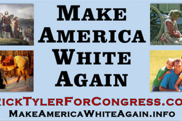 "Trump-inspired Tennessee candidate for Congress erects ""Make America White Again"" billboard, draws boycott"