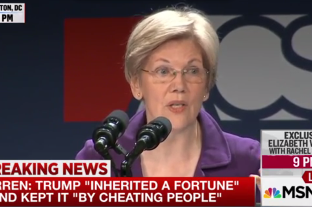 "Watch Elizabeth Warren burn it all down in epic takedown of ""thin-skinned, racist bully"" Donald Trump: ""He will never be President of the United States"""