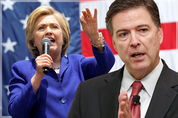 BREAKING: No charges: FBI director James Comey tells Congress review of additional Hillary Clinton emails does not change conclusion she should not face charges