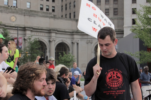 IWW protesters at the RNC (Credit: Salon/Ben Norton)