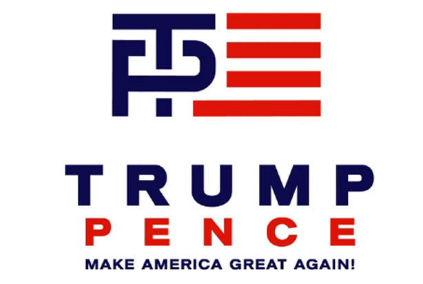 What are your thoughts on the Trump Pence 2016 logo?