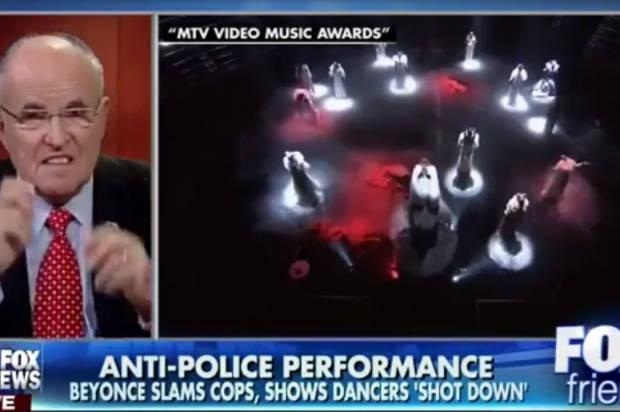 Giuliani condemns Beyonce's VMAs performance