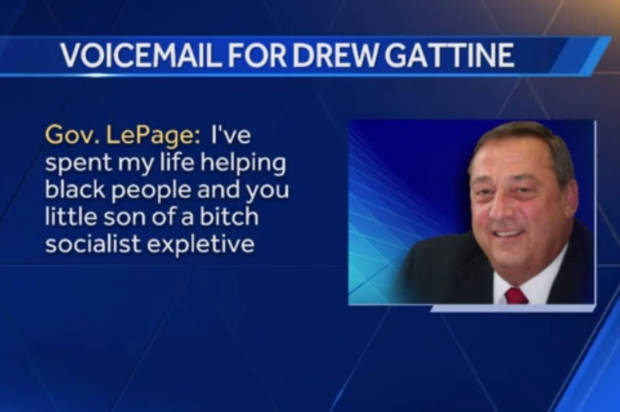 LePage Threatens Democratic Lawmaker, Leaves Obscene Voicemail