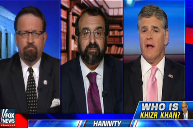 "Sean Hannity refuses to let Trump move on, launches ""investigation"" into Gold Star parent Khizr Khan"