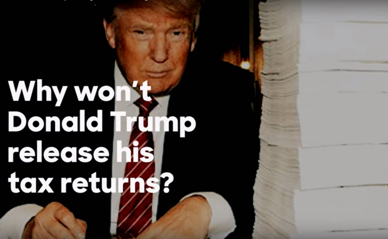 Image result for pictures of donald trump and tax returns