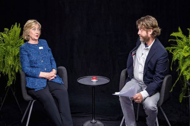 Clinton Takes a Pretty Darn Hilarious Turn on 'Between Two Ferns'
