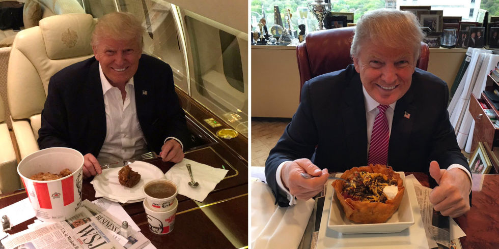 Trump Fast Food Diet