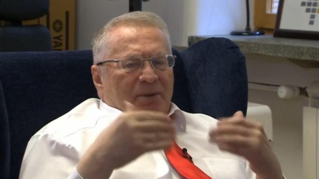 Screengrab of Zhirinovsky from Reuters