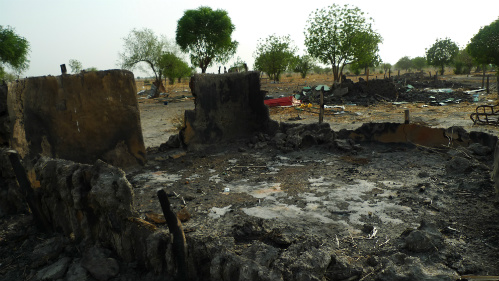 Little remains of the town of Leer, South Sudan, after repeated raids by armed men who burned homes, raped women, and drove the population into exile.