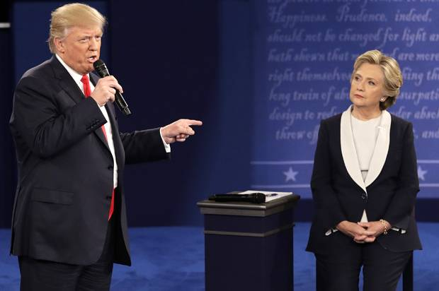 Hillary Clinton won the second presidential debate against Donald Trump  except if you count white. Hillary Clinton won the second presidential debate against Donald