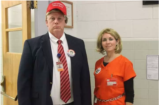 Kids Trump And Clinton Costume Holloween