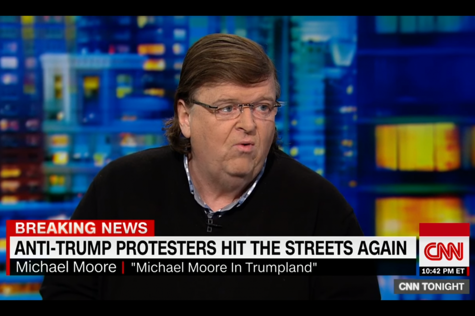 "Michael Moore wants to lead an anti-Donald Trump resistance ""that will dwarf Occupy Wall Street"""