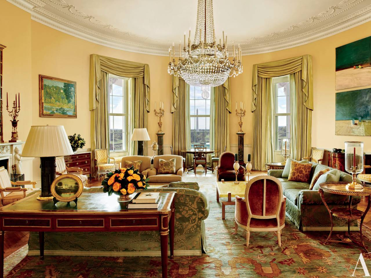 This is where president obama lives inside the white house - The white house interiors ...