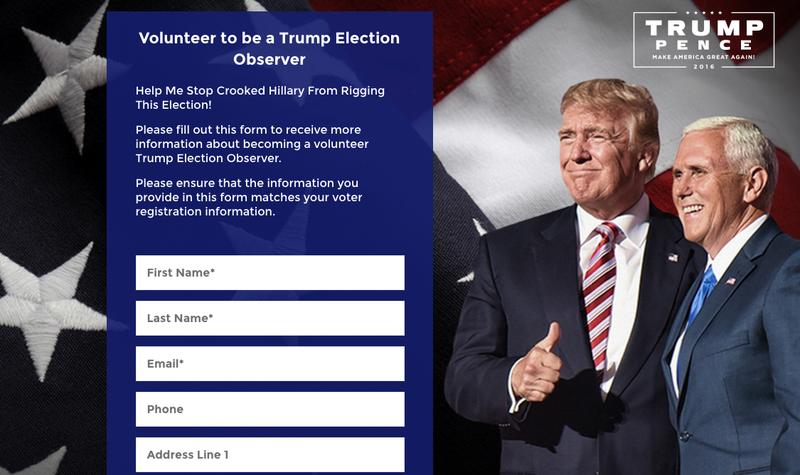 trump poll watcher