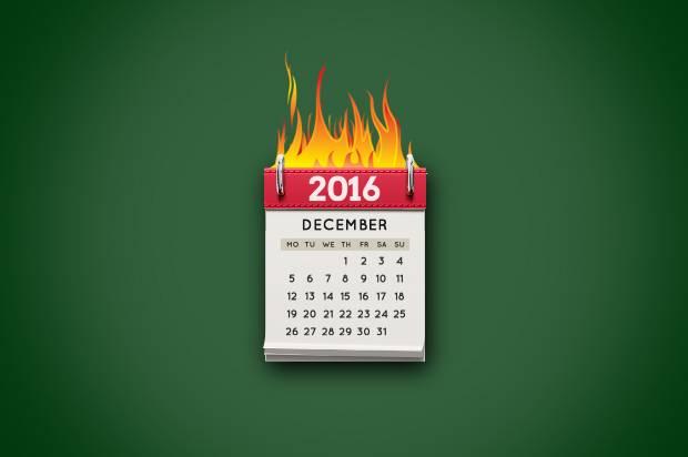Calendar on Fire