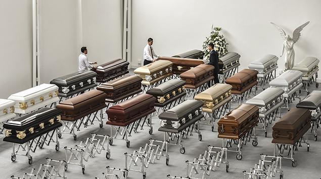 caskets airplane crash Brazil