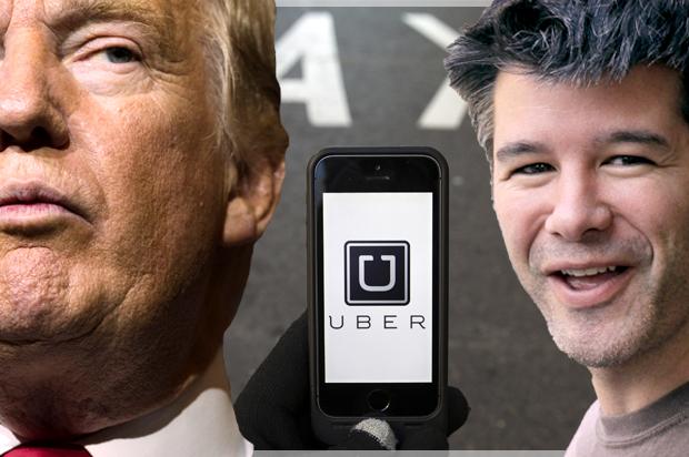 Bildresultat för trump Uber CEO Travis Kalanick
