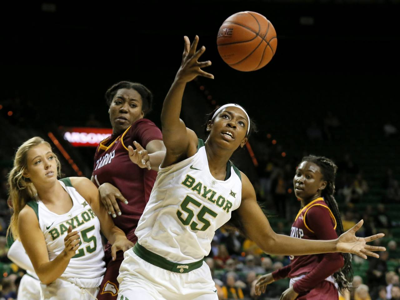 Biggest DI women's rout: No. 3 Baylor tops Winthrop 140-32