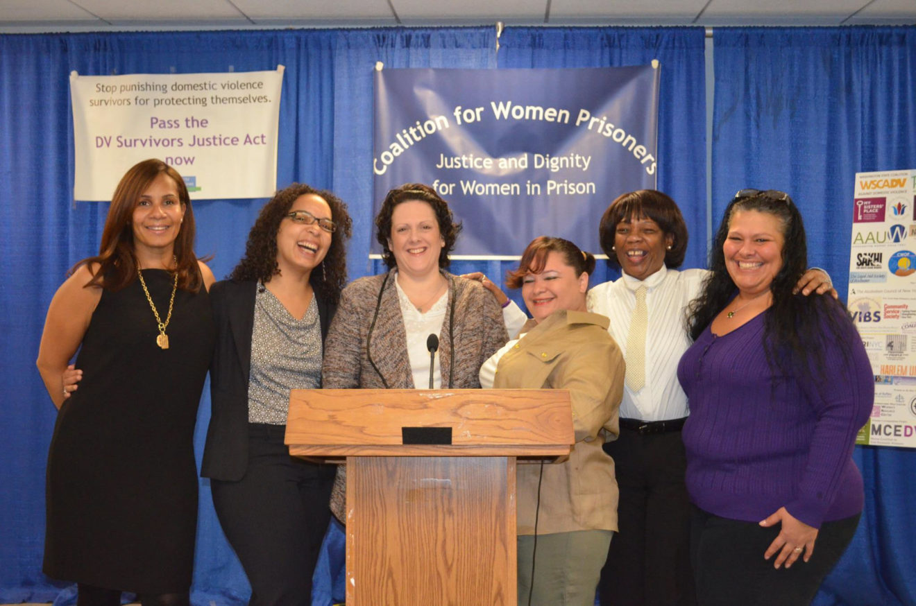 Dadou (far right) and fellow advocates for The Domestic Violence Survivors Justice Act in Albany. Five out of six of the women have been incarcerated. (Photo courtesy of Kim Dadou)