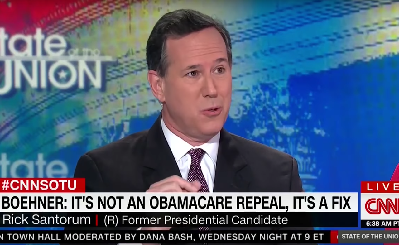 "WATCH: Rick Santorum suggests ""millions"" of sick Americans are defrauding insurance companies"