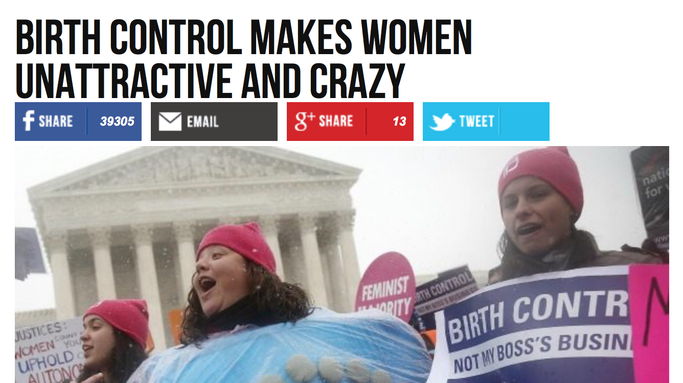 A new front in the assault on women's freedom: Anti-choice activists now going after birth control