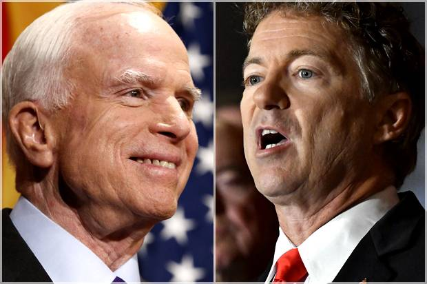 "WATCH: John McCain says Rand Paul is ""working for Vladimir Putin,"" Paul calls McCain ""unhinged"""