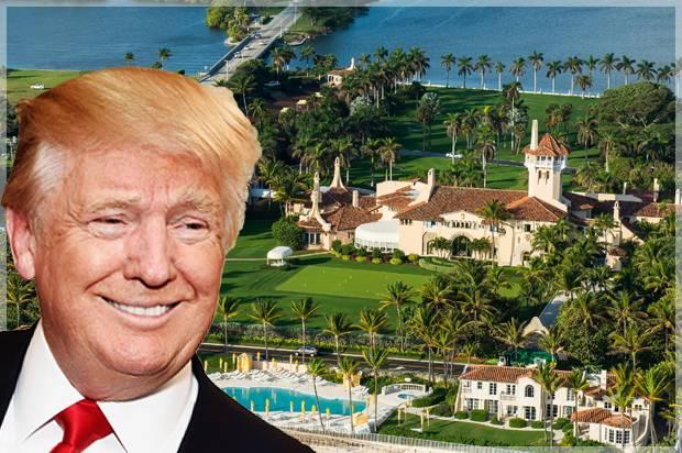 Donald Trump; Mar-A-Lago (Credit: Getty/Gary Gershoff/Shutterstock)