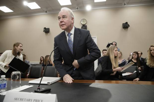 Tom Price spent $25,000 in tax dollars to fly from Philadelphia to D.C.