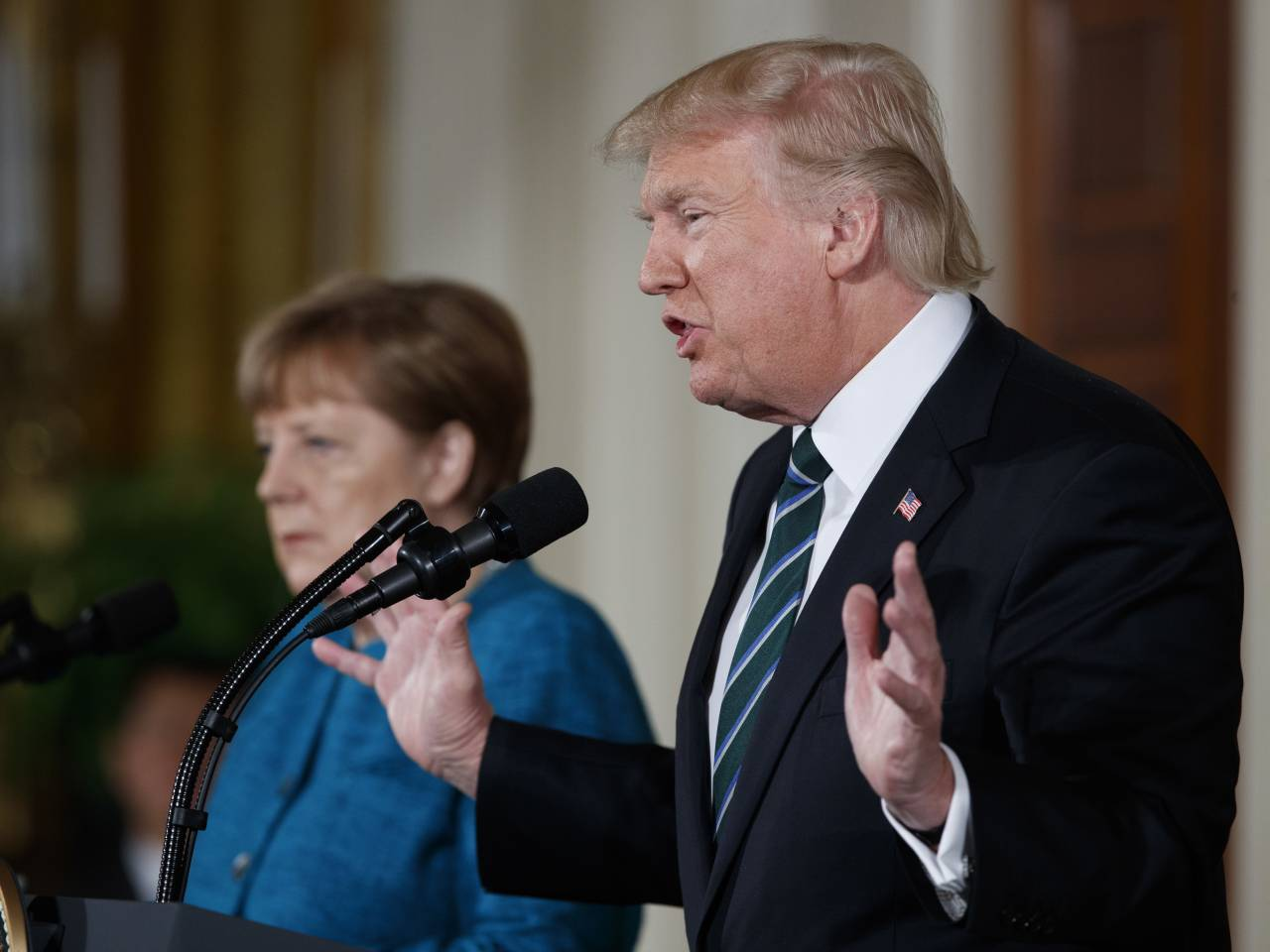 Trump, Merkel get along well: White House