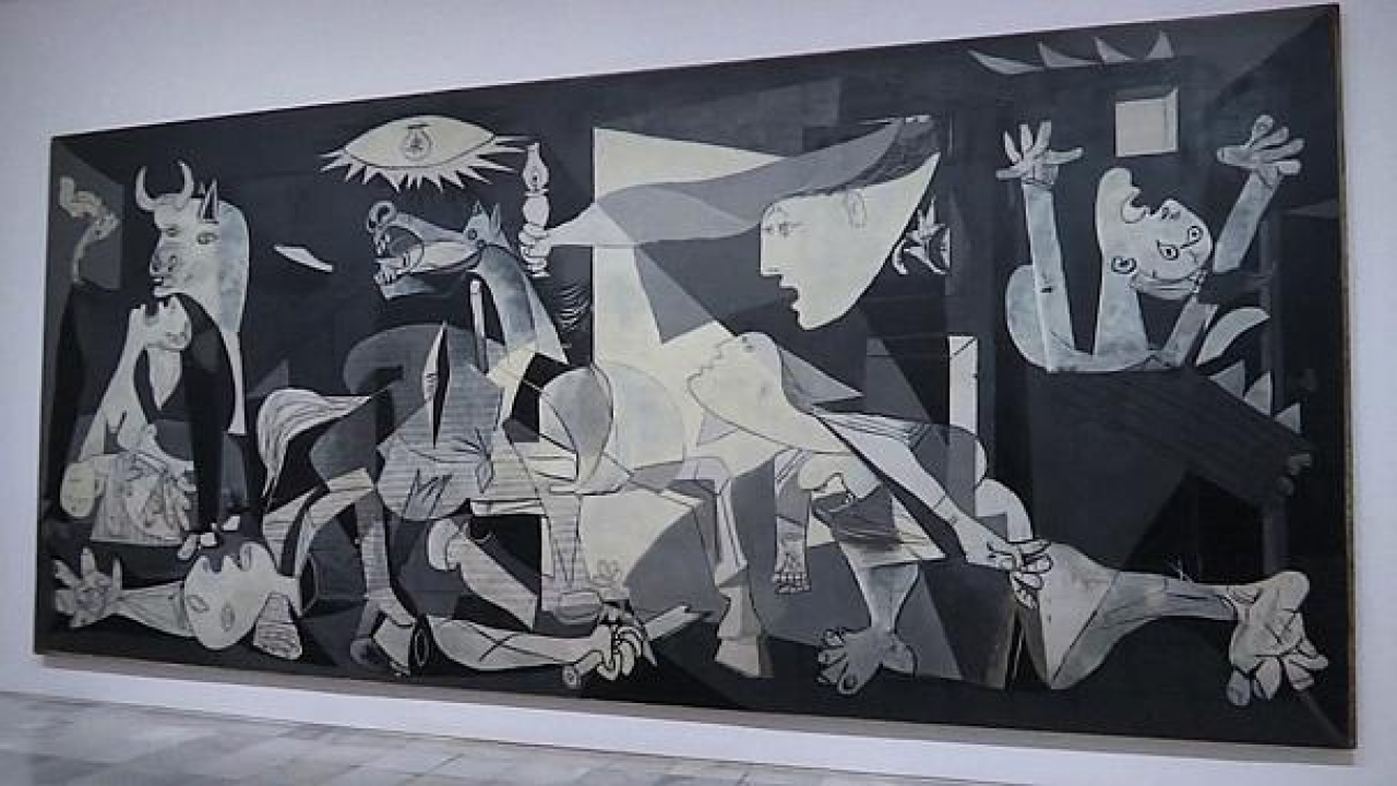 Guernica painting images galleries for Mural guernica