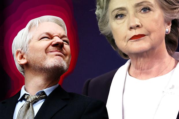 Výsledek obrázku pro foto olser assange clintonová