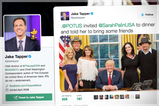 Sarah Palin, Ted Nugent and Kid Rock walk into the White House …