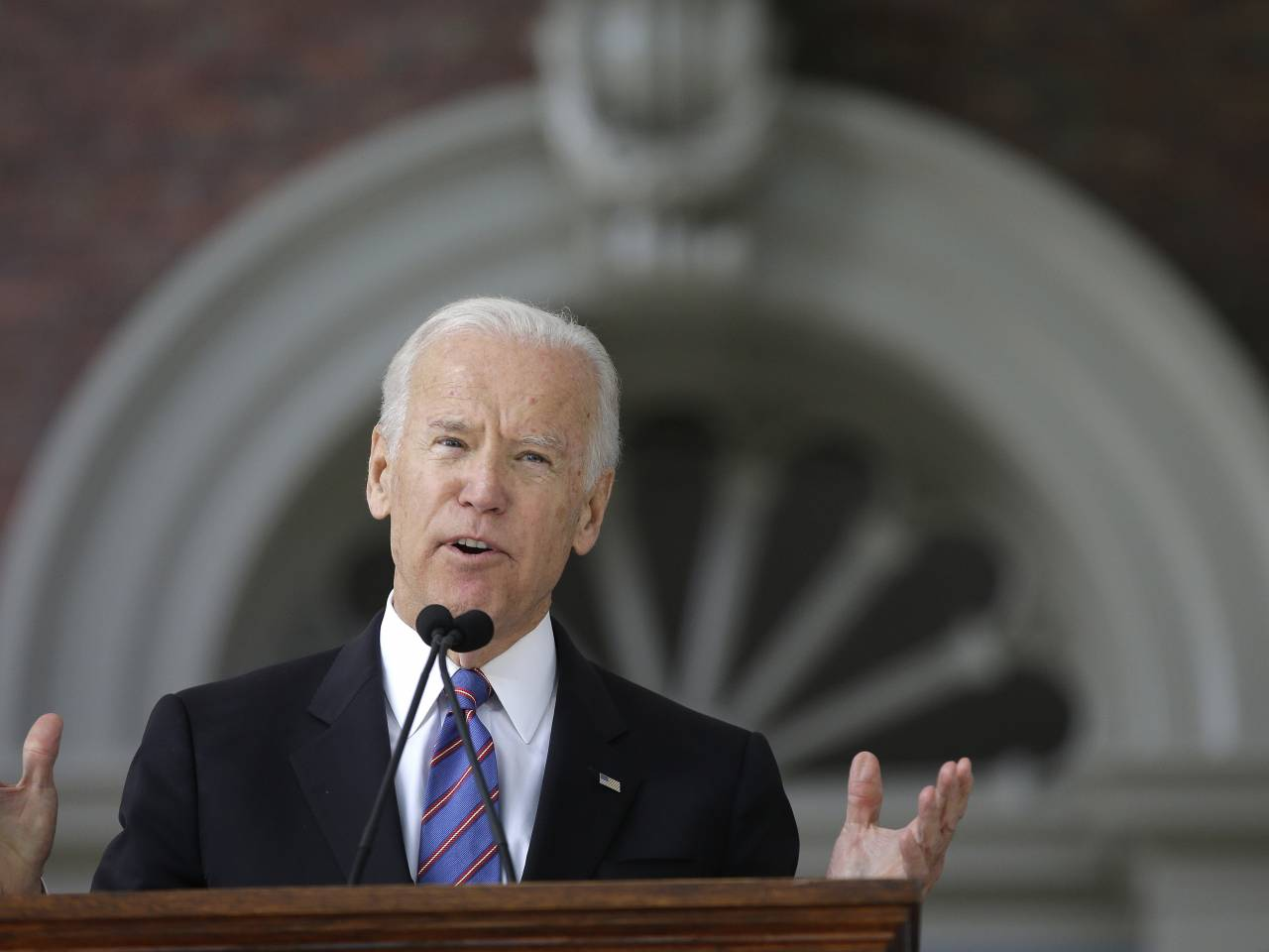 Biden critical of Trump policies during Cornell speech